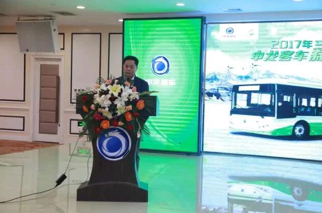 齐齐哈尔市北方公交集团领导姜海滨先生上台讲话
