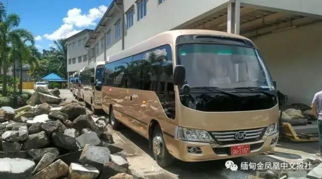 安凯高端豪华中巴宝斯通K7进入缅甸市场