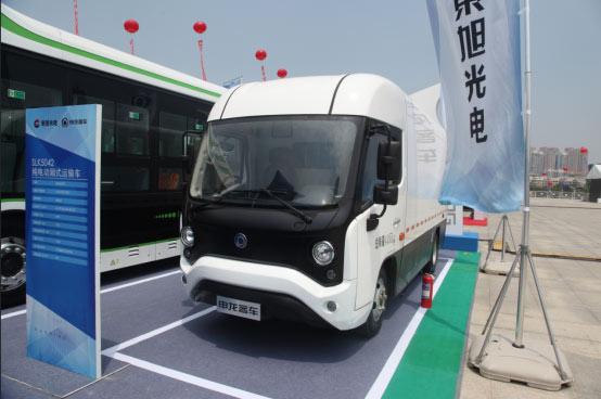 申龙SLK5042纯电动厢式运输车