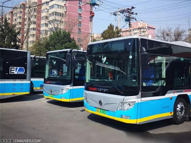 北京市87、89线路运营的61辆公交车更换为<font color=red>福田欧辉</font>新能源客车