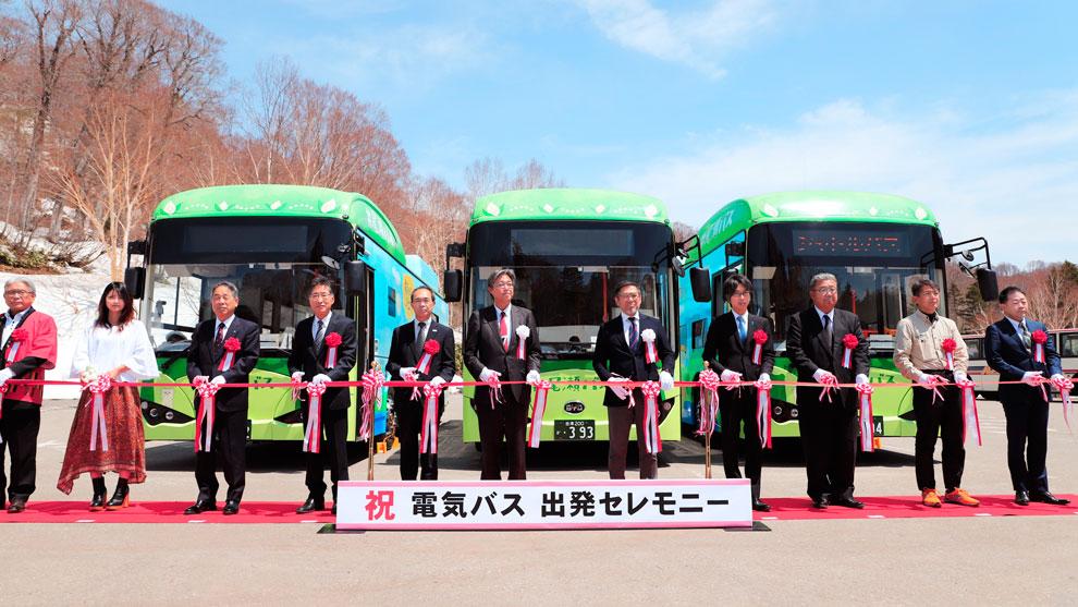 比亚迪四次在日本交付纯电动巴士