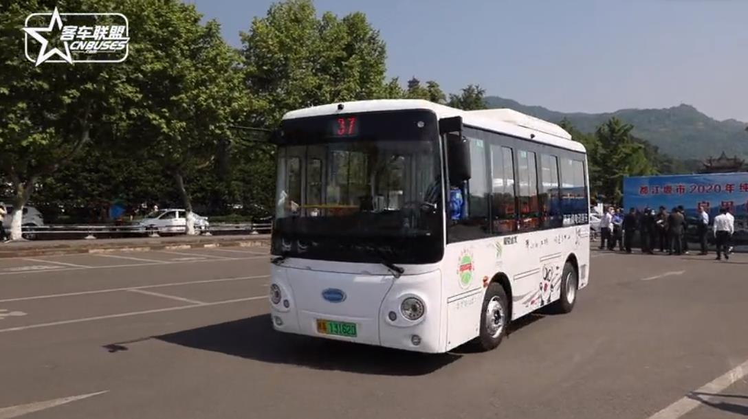 80辆开沃纯电动公交车在都江堰上线运营